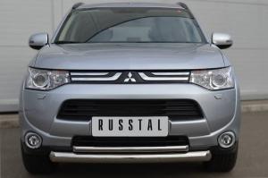 Mitsubishi Outlander 2012 Защита переднего бампера d76/42(дуга) MRZ-001050